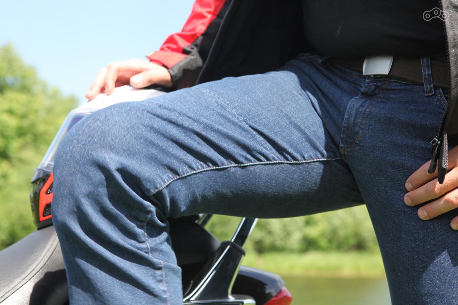 Защитные вставки в джинсах MCP регулируются по высоте